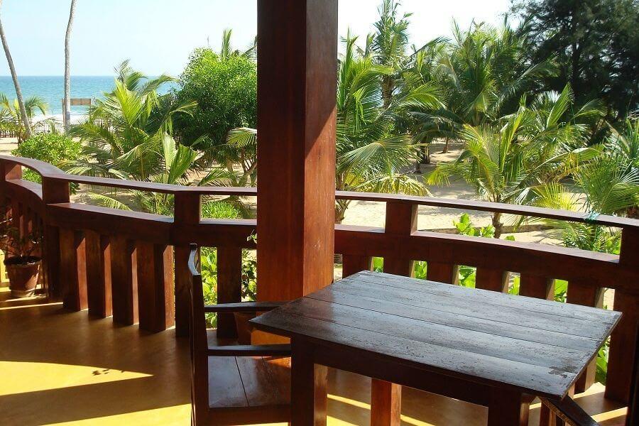 Fotka pokoje s výhledem na moře v Tangalle na Srí Lance